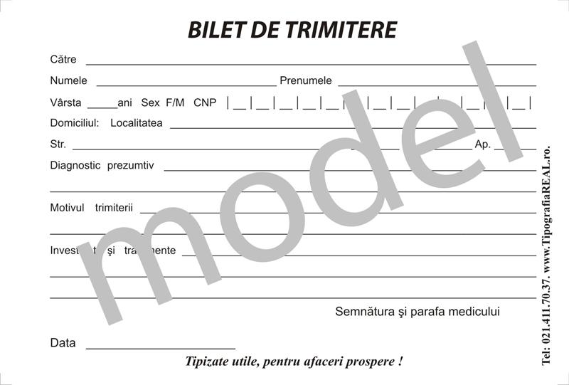 Bilet De Trimitere Simplu